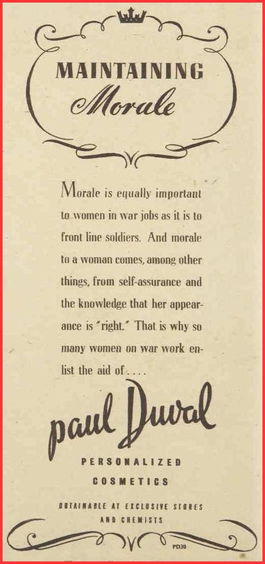 vintage makeup ad, 1944