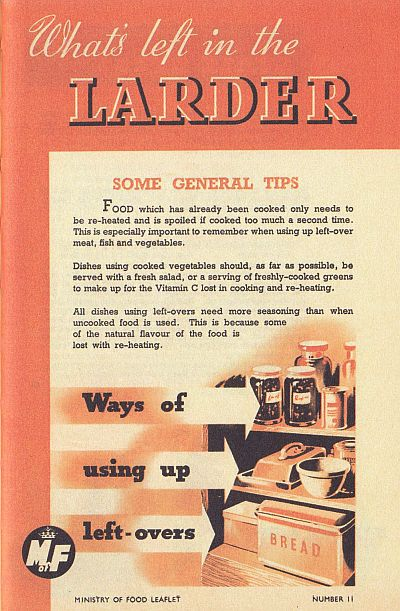 what's in the larder WWII