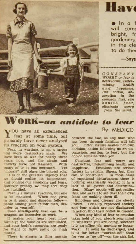 1940ss tips to conquer fear