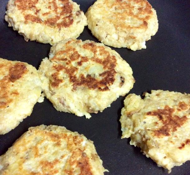 Irish potato cakes make from left over roast potato