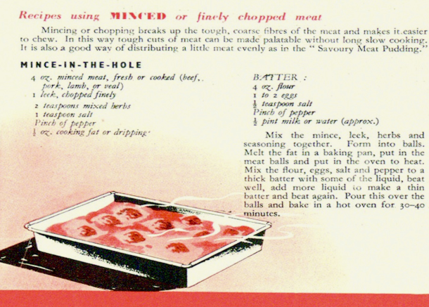 Mince  in the hole recipe from the Ministry of food