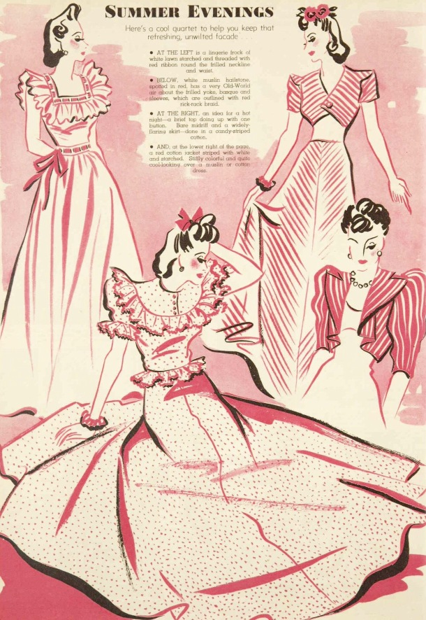 summer evening dresses october 1939
