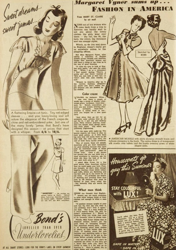 american vs englinsh fashions october 1939