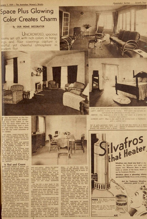 Vintage 1930s prewar decorating and furnishing  ideas