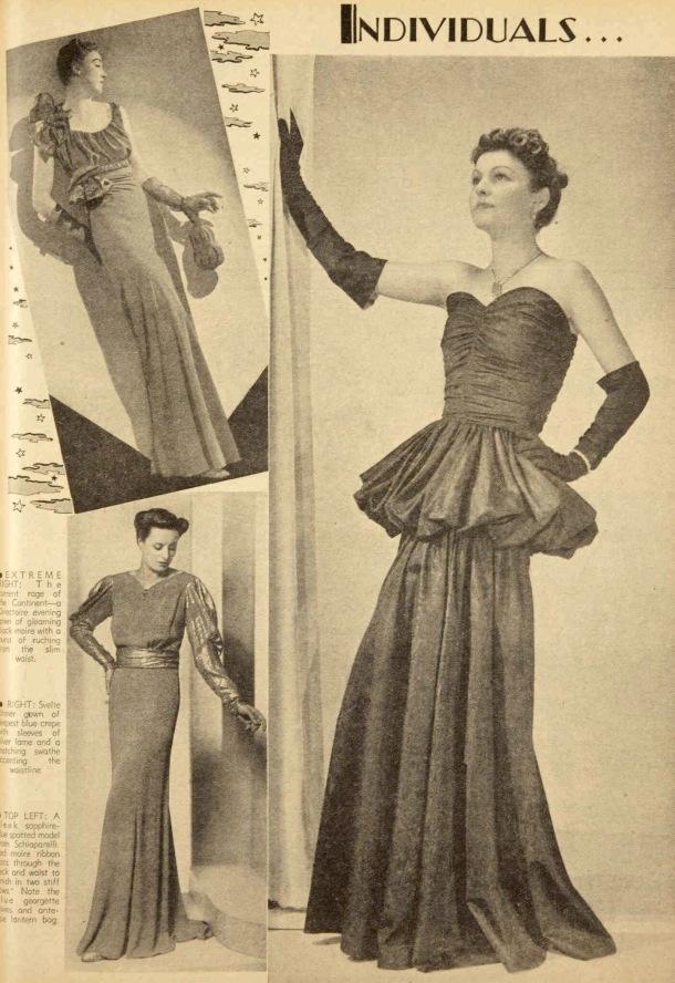 Evening dresses 1939