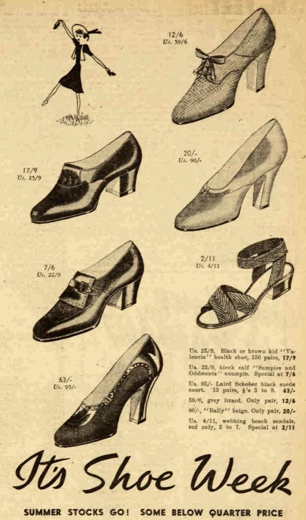 Shoes for Summer 1939