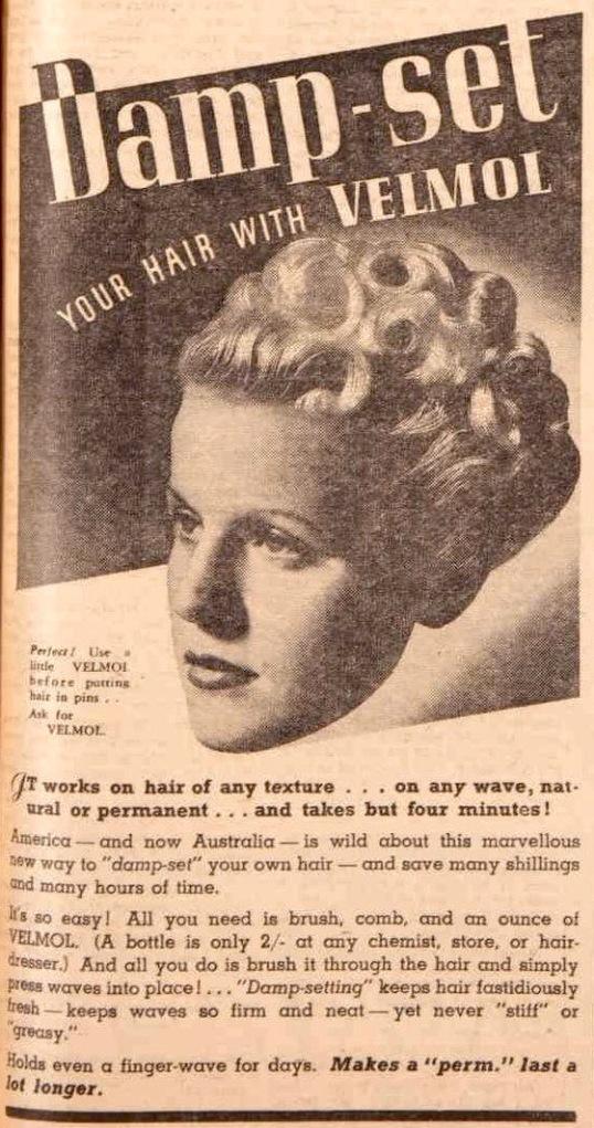 vintage 1930s hair ad