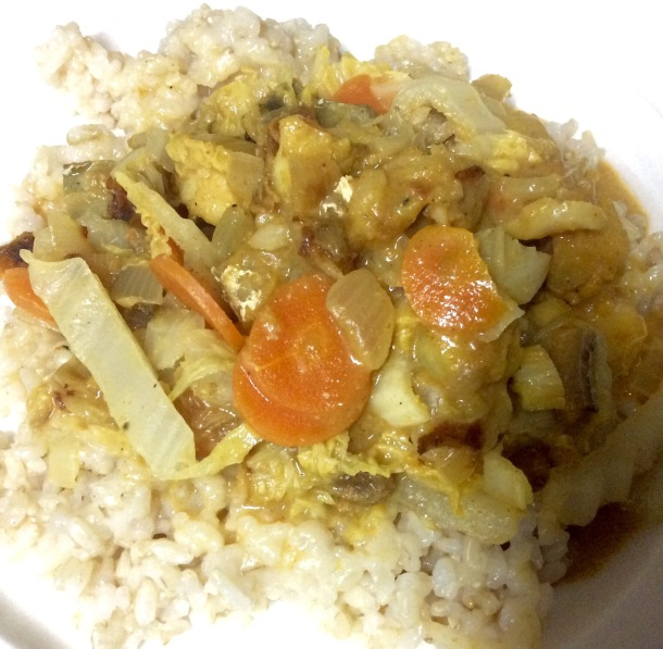 Wartime Fish curry with sultanas