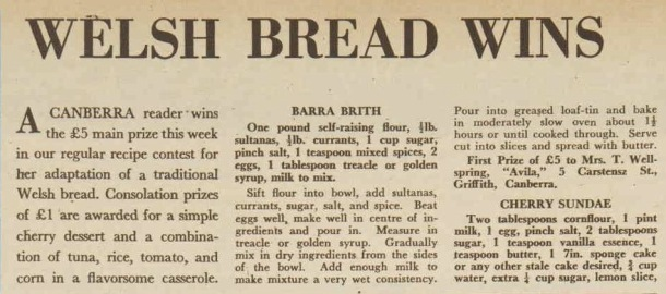 Barra Birth recipefrom The Australian Women's Weekly, April 1961