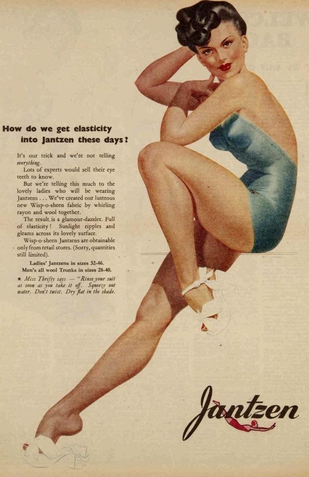 Vintage 40s 1945 Jantzen swimwear ad