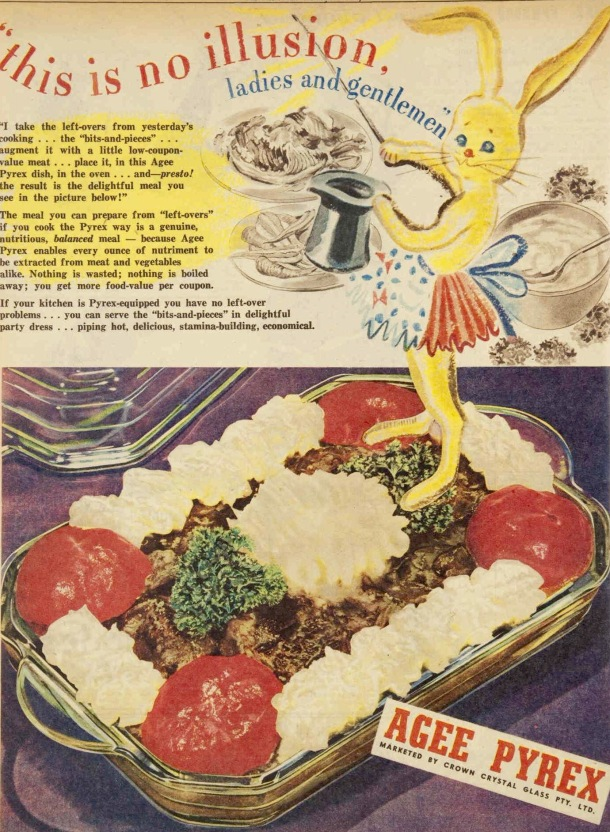 Vintage 40s 1945 Agee Pyrex ad