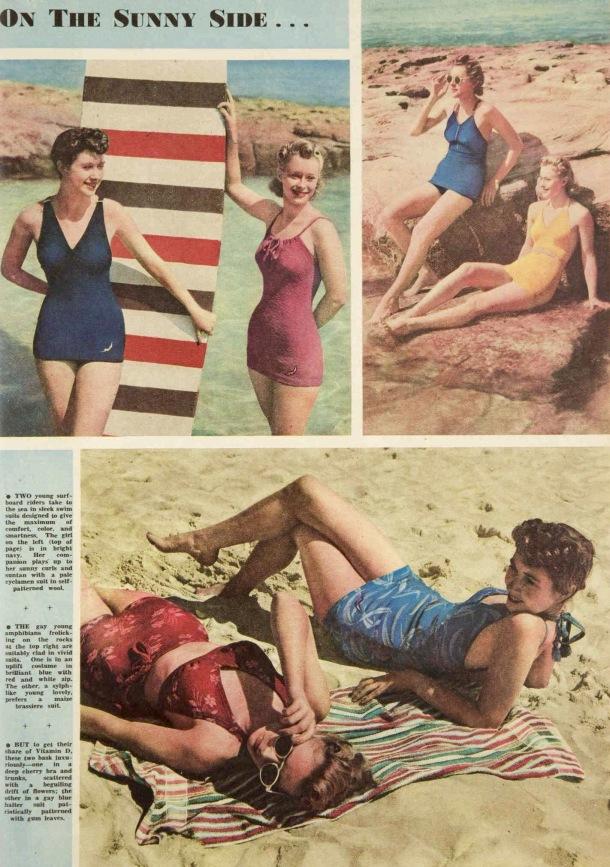 at the beach 1939
