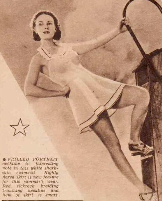 vintage 1940s swimsuit
