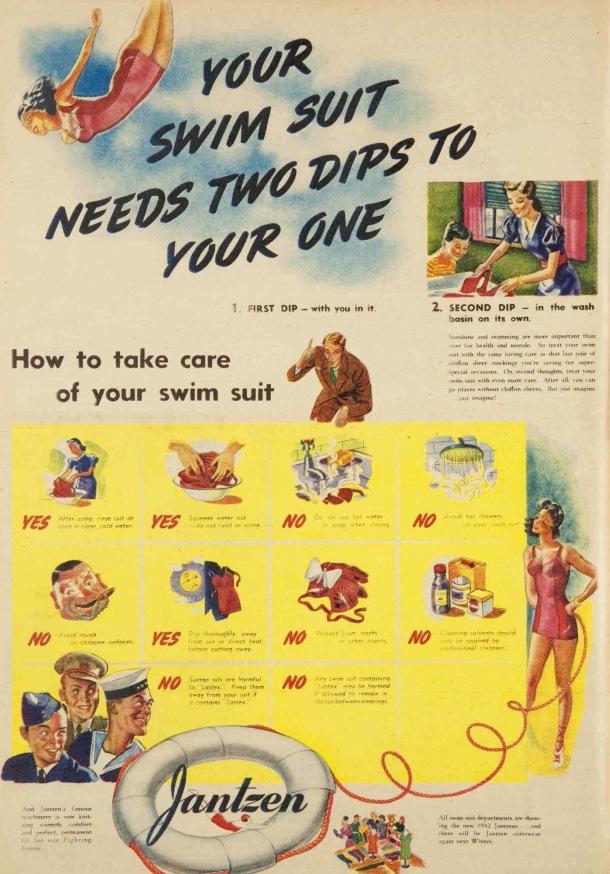 vintage 1940s swimsuit ad