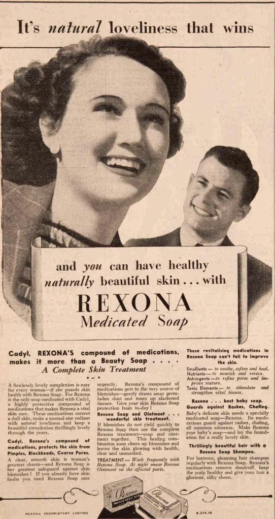 vintage 1930s rexona ad