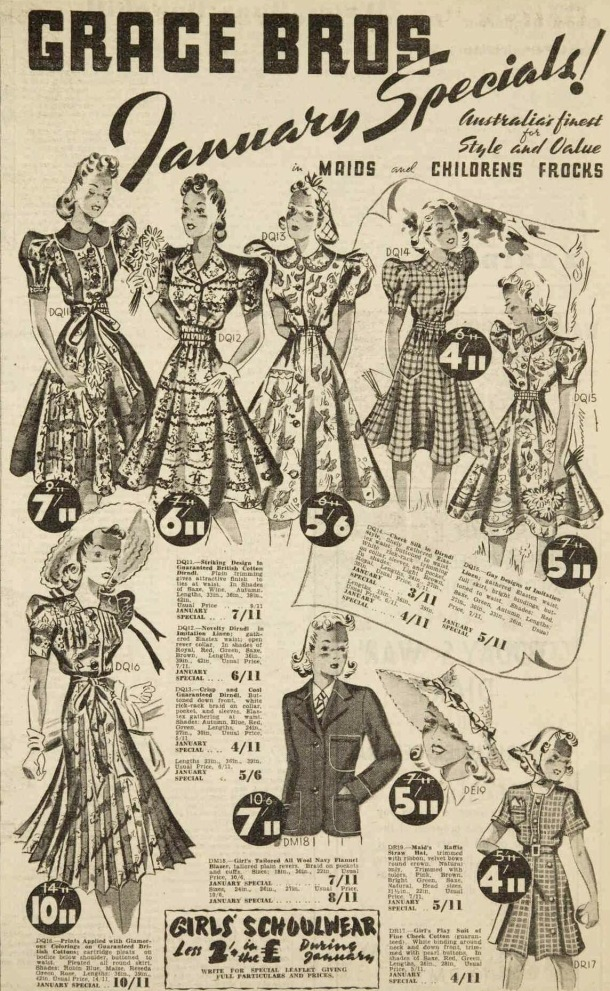 grace brothers ad 1940