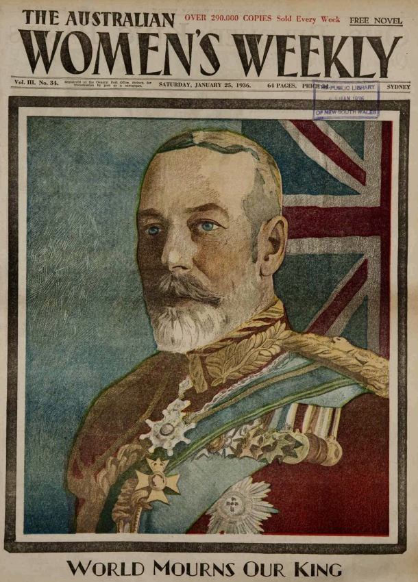 portrait of king george V