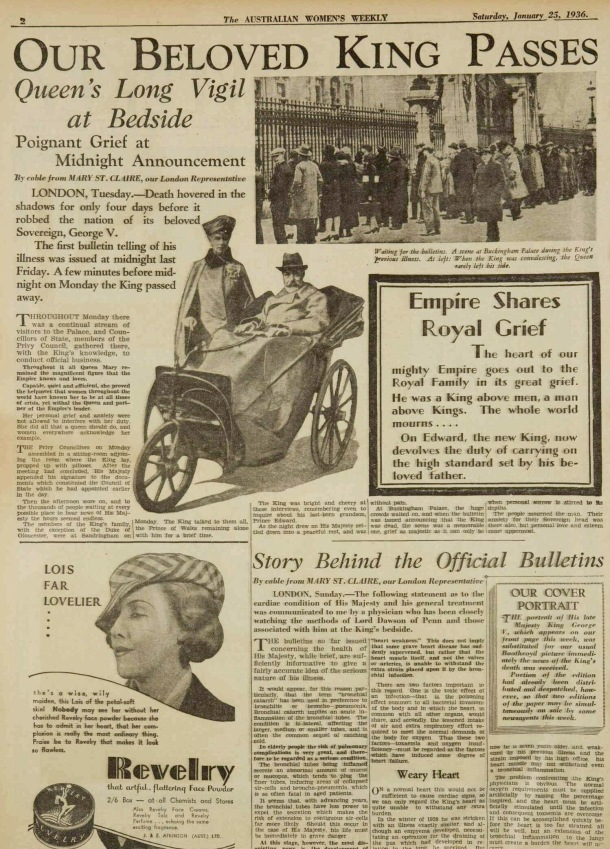 the beloved passing of king george v in 1936