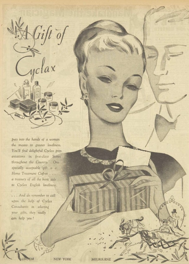 Vintage Christmas gift cycles 1940s ad
