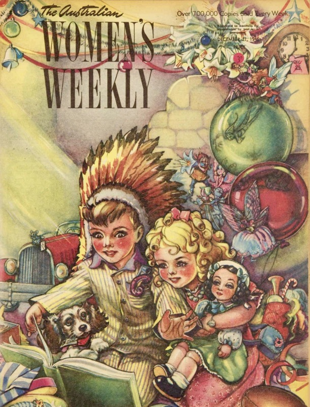 Magazine cover vintage Christmas 1946