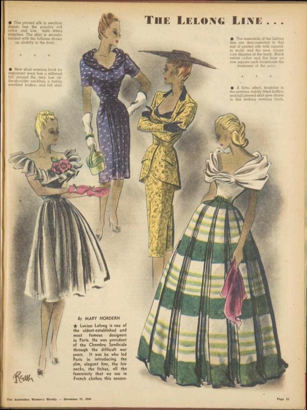 Vintage 1940s post war Christmas fashion